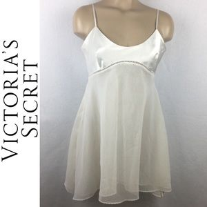 Victoria Secret Ivory Satin Sleep Dress XS M NWOT